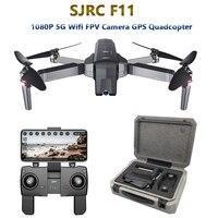 SJRC F11 GPS Drone ile 5G Wifi FPV 1080 P Kamera Fırçasız Quadcopter 25 mins Uçuş Süresi Hareket Kontrolü katlanır Drone Vs CG033