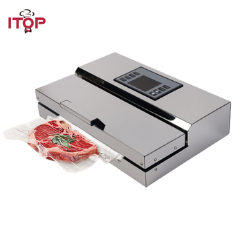 ITOP 110 V/220 V máquina selladora al vacío de alimentos para el hogar selladora de película envasadora al vacío con bolsas de embalaje