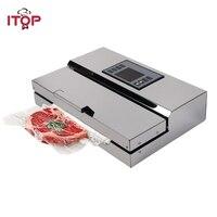 Itop 110 v/220 v 가정용 식품 진공 실러 포장 기계 필름 실러 포장 봉투가있는 진공 포장기