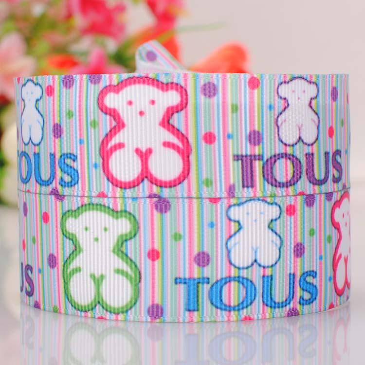 10 yardas 1  25 mm moda Tous oso cinta impresa grosgrain colorido de la