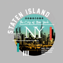 Patches Staten Island New Design Clothing Deco Heat Transfer Washable Badges Diy Accessory Iron On