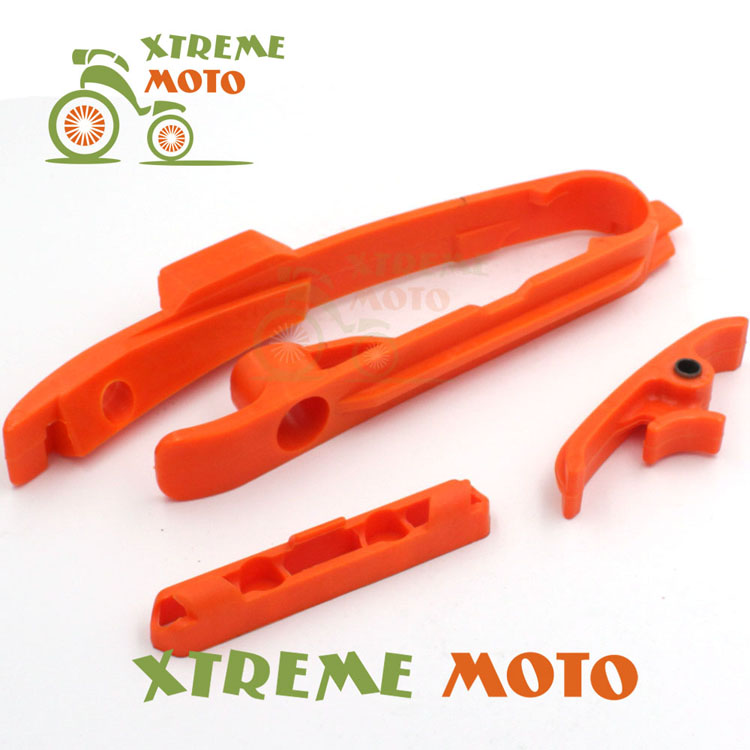 Orange Chain Slider Guide Brake Hose Clamp For KTM SX SXF 125 150 200 250 350 450 525 11-15 Motocross Enduro Supermoto Dirt Bike 0322 star new team graphics with matching backgrounds fit for ktm sx sxf 125 150 200 250 350 450 500 2011 2012