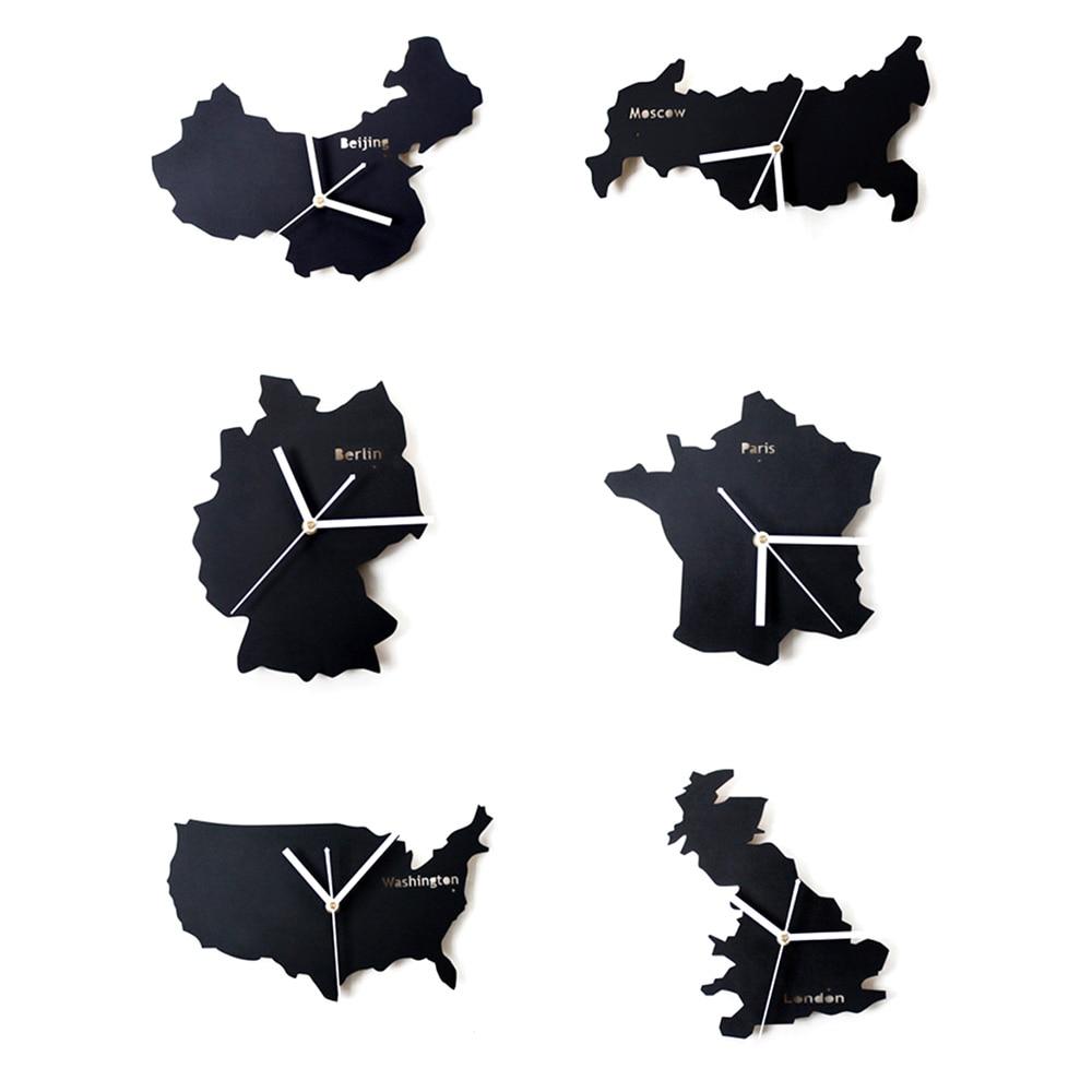 Art Modern Minimalist Wall Clock Unique National Map Design - Germany map shape