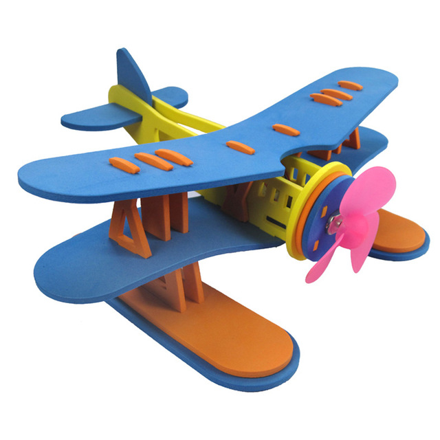 Air blade dynamic seaplane model electric DIY puzzle toy equipment handicraft class students