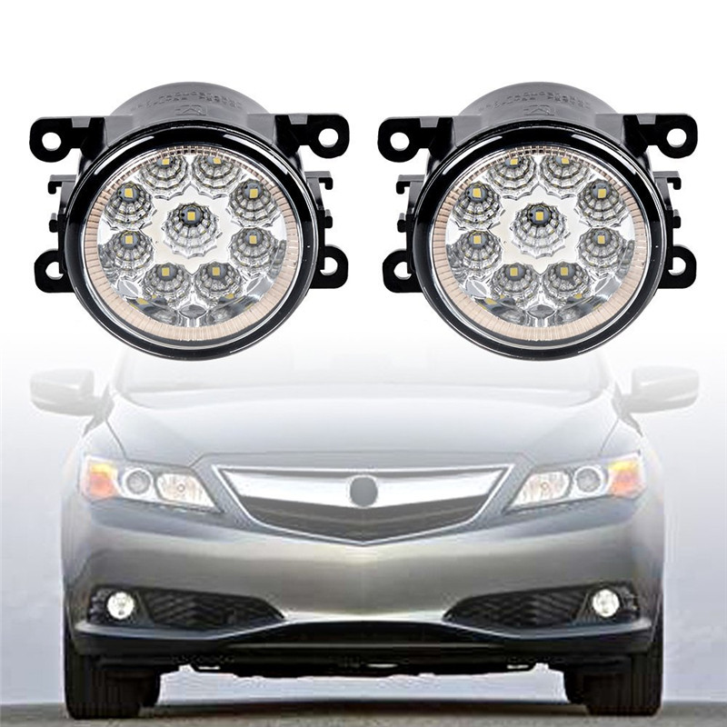 3.5 in. For Renault LOGAN Saloon LS 2004-2015 Car styling front bumper LED fog Lights high brightness fog lamps 1pair fog light  led front fog lights for dacia logan saloon ls 2004 2011 2012 car styling bumper high brightness drl driving fog lamps 1set