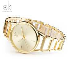 Shengke Fashion Bracelet Ladies Watch Luxury Women Brand Wrist Watch Girl Dress Elengant Party Top Style Quartz Wristwatches SK