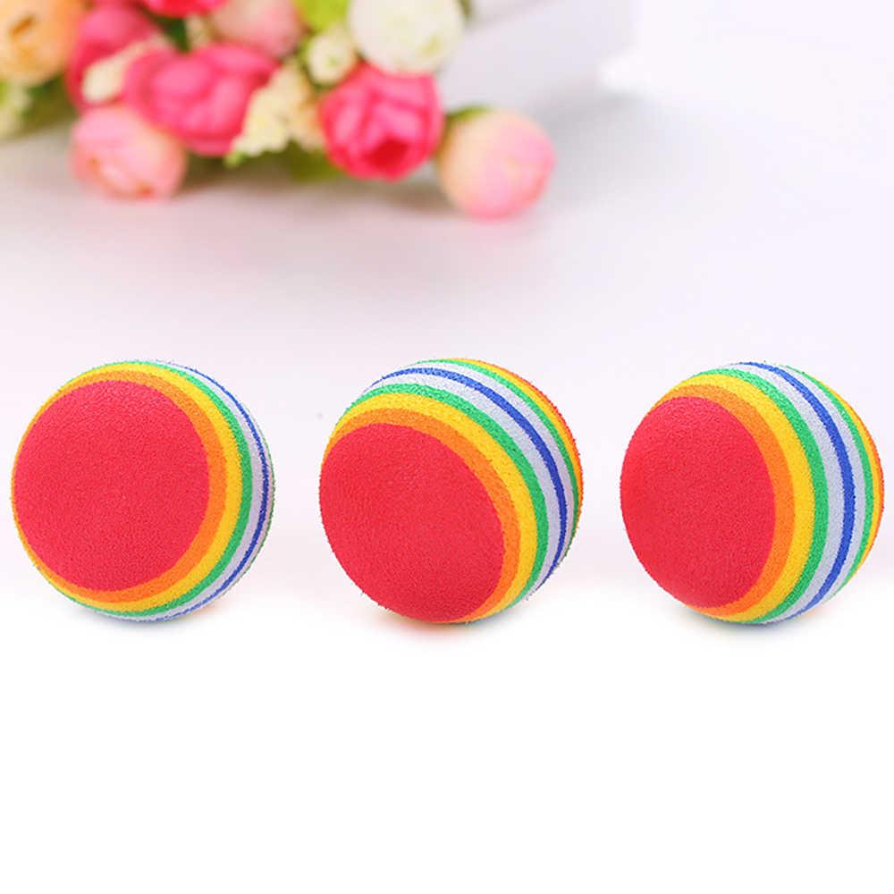 直径 s/m/l ペットのおもちゃベビー犬猫のおもちゃ虹カラフルなプレイボールペット製品おかしい eva ボール