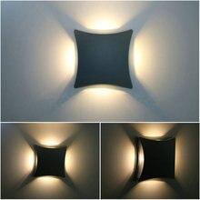 AC85-265V 12 Вт LED Открытый Вилла Бра Творческий Современный Минималистский Личность Пыле-Водонепроницаемый LED Настенный Светильник wx400