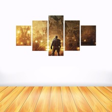 5 Piece Helpless Warrior Wall Art High Definition Screen Printed Images Picture Living Room Decoration Battlefield