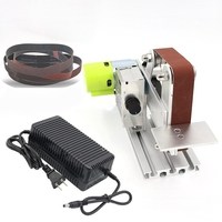 DIY Power Tool Polisher Mini Bench Sander + a Power Micro Belt Machine Electric Polishing Sanding Machine Accessories 2019 New