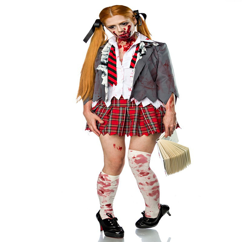Halloween Cosplay Cosplay, Stage Performance Game, Resident Evil, Zombie Vampire Student Wear Sets, Girls' Dress Suits