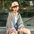 Corea Nueva Moda Cardigan Mujeres Suéter Grueso Otoño Invierno Loose Abrir Stitch Cardigans Warm Coat Para Las Mujeres de Color Sólido Ocasional