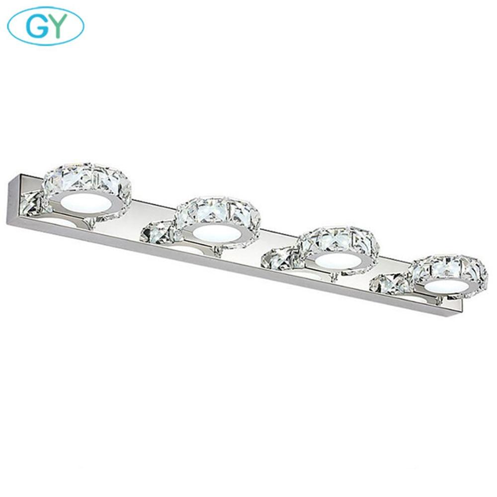 La vanité cristal LED moderne allume des lumières de miroir de salle de bains, 3W 6W 9W 12W LED coiffeuse avec la lampe de miroir, table de maquillage au-dessus de l'éclairage