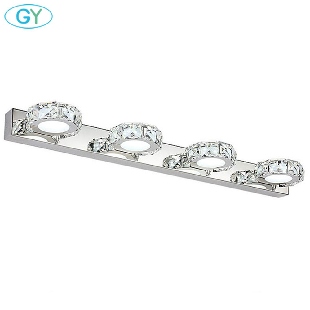 Modern LED Crystal Vanity Lights Bathroom Mirror Lights, 3W 6W 9W 12W LED Coiffeuse Avec Miroir Lamp, Makeup Table Over Lighting