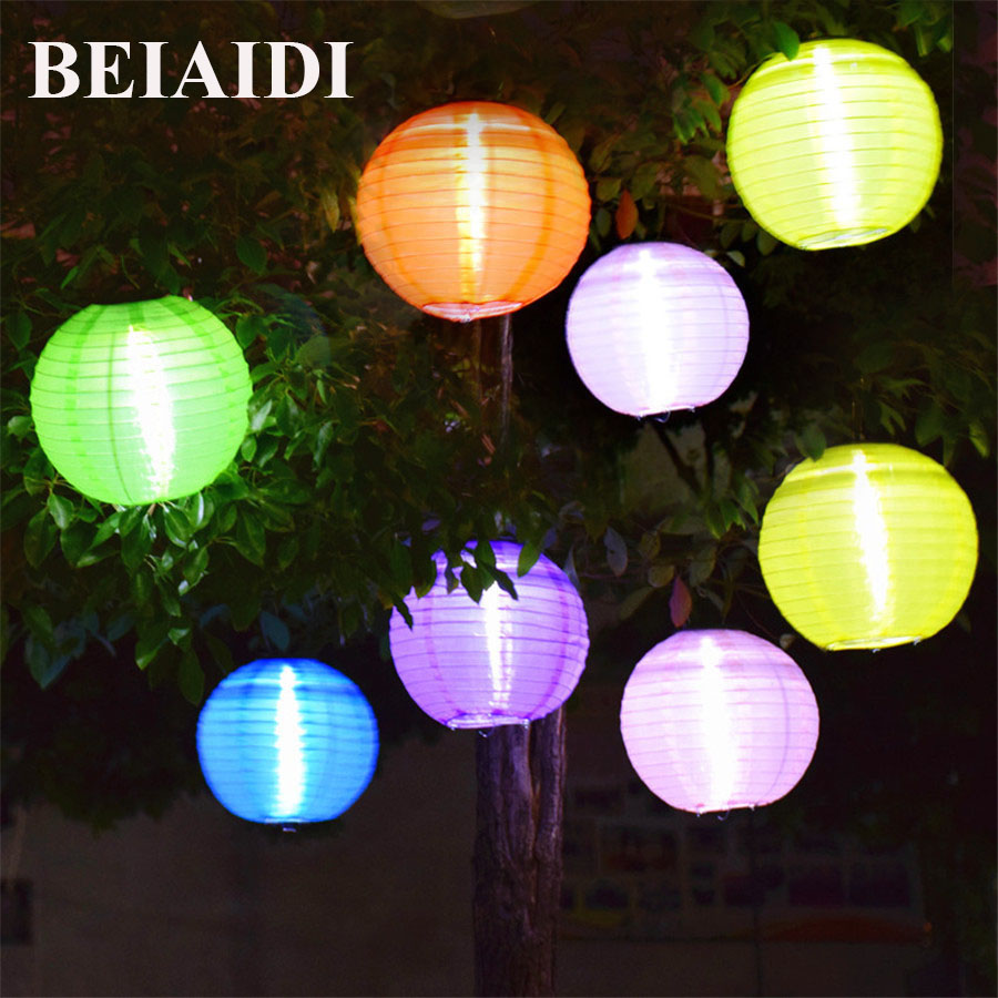 Us 37 95 30 Off Beiaidi 5pcs 30cm Solar Lantern Ball Lamp Outdoor Lighting Fairy Globe Christmas Decorative Light For Party Wedding Holiday In
