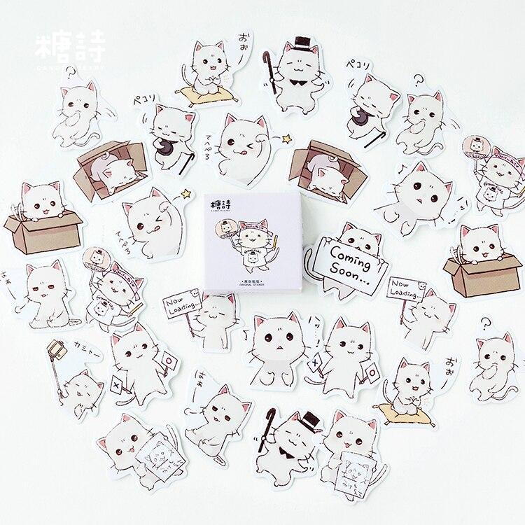 45pcs/pack Cartoon Decorative Adhesive Sticker, Craft Scrapbooking Sticker Set For Diary, Album, Notebook, Planner, Scrapbook