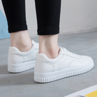 2017 Summer Women Casual Shoes White Lace Up Student Walking Driving Breathable Flat Shoes Z866 Sapato