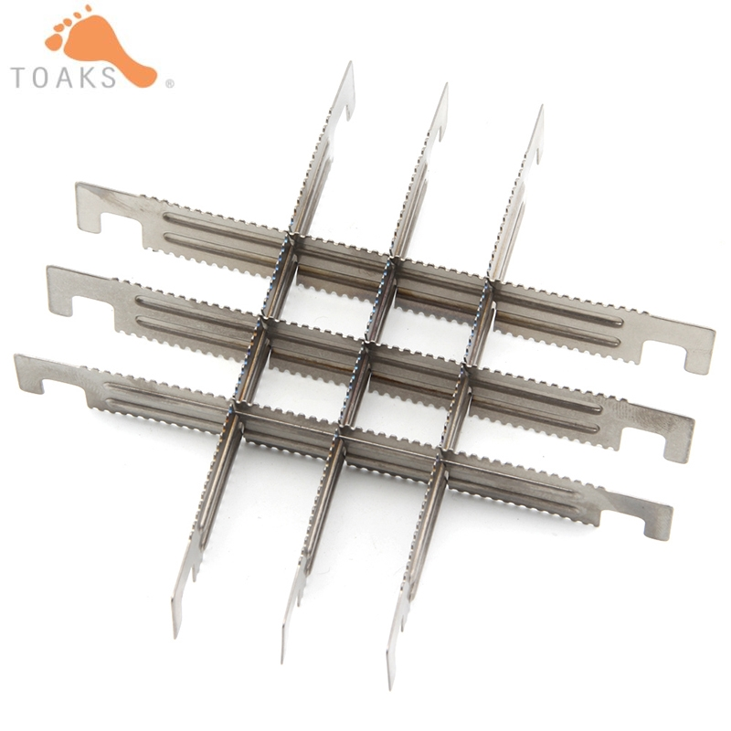2/4/6pcs/set Toaks Titanium Wooden Burning Stove Cross Bars Camping Hiking Stove Rack Portable Stove Stand Support Stands BAR-02 image