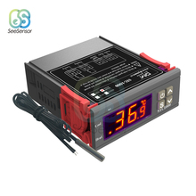 STC-1000 AC 110V 220V LED Digital Temperature Controller Thermoregulator Thermostat With Heater And Cooler For Incubator led digital temperature controller thermostat incubator 220v 10a with heater and cool