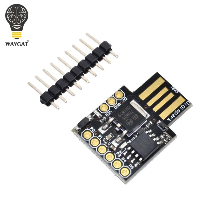 Free Shipping WAVGAT Digispark Kickstarter Miniature For Arduino ATTINY85 Usb Development Board