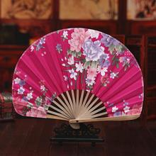 10pcs/lot Elegant Flower Pattern Folding Handfans Straight Shell Design Bamboo Silk Fans Wedding Favors H132