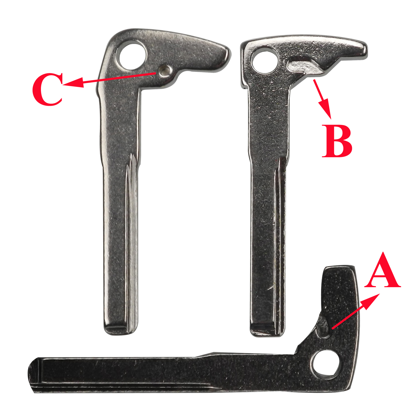 qualitykeylessplus Smart Insert Key Replacement for Toyota Remote Blank Uncut Blade with Free KEYTAG