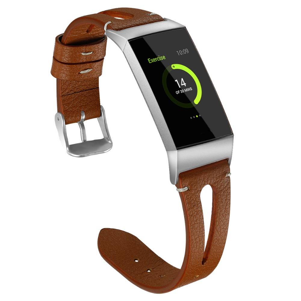WatchBand Fitbit Charge 3 Leather Strap Wrist Bracelet For Fitbit Charge 3 Band Genuine Leather For Fitbit Watchband