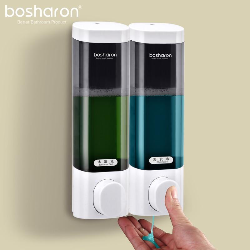 300ml Liquid Soap Dispenser Wall Mount Bathroom Accessories Plastic Shampoo Dispensers Kitchen Detergent Bath Shower Gel Bottle