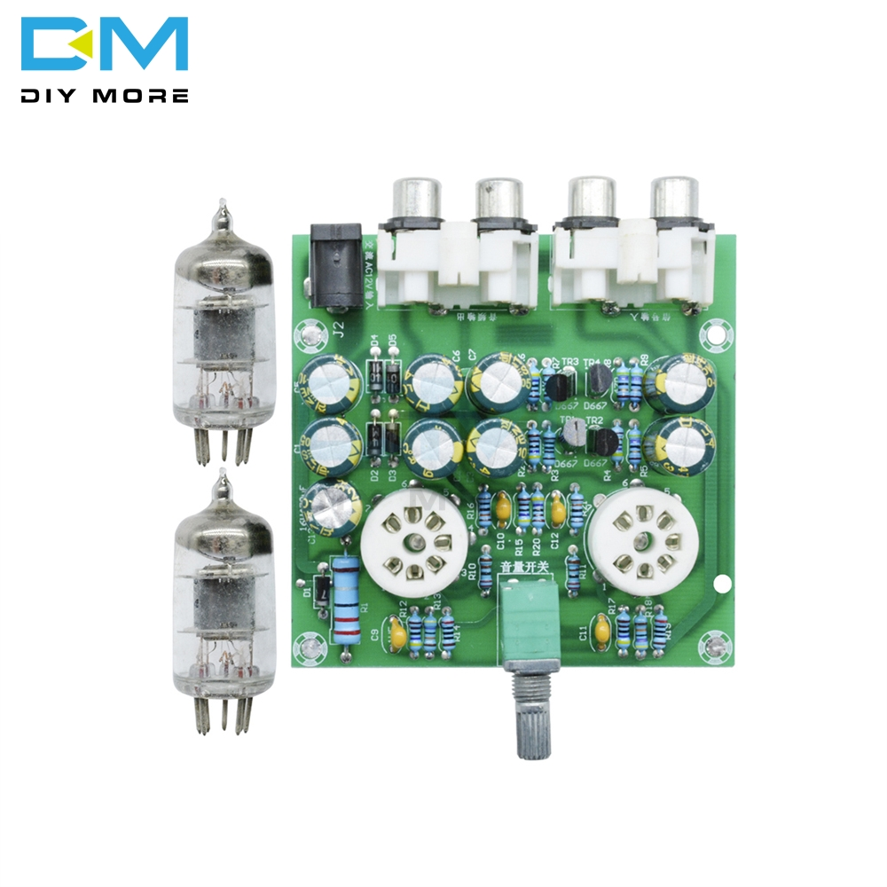 DC 12V 6J2 Valve Vacuum Preamp PreAmplifier board Bass on Musical Fidelity for Amplifier Headphone Amp DIY Electronic Tube Kit máy xay sinh tố của đức
