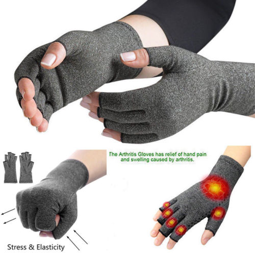 New Copper Compression Gloves Fingers Arthritis Joint Pain Carpal Tunnel Brace