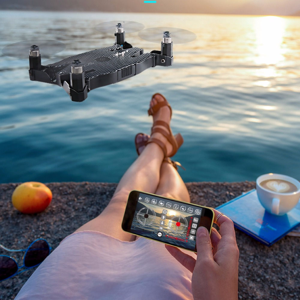 RC Drone with Camera Profesional FPV Quadcopter RC Helicopters JJRC H49 H49WH SOL 4ch 720P Mini Folding Automatic Air Pressure up air upair chase 5 8g fpv 12mp rc quadcopter