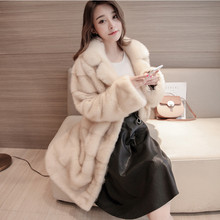 2017 factory new arrival women's full pelt fashion genuine mink fur coat ,lady 100% real mink fur garment LSQ24