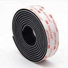 Velcros Adhesivo Тип 400/25, 4 мм ширина 3M двойной замок SJ3551 черный VHB гриб клейкая крепежная лента(25,4 мм X 20 см