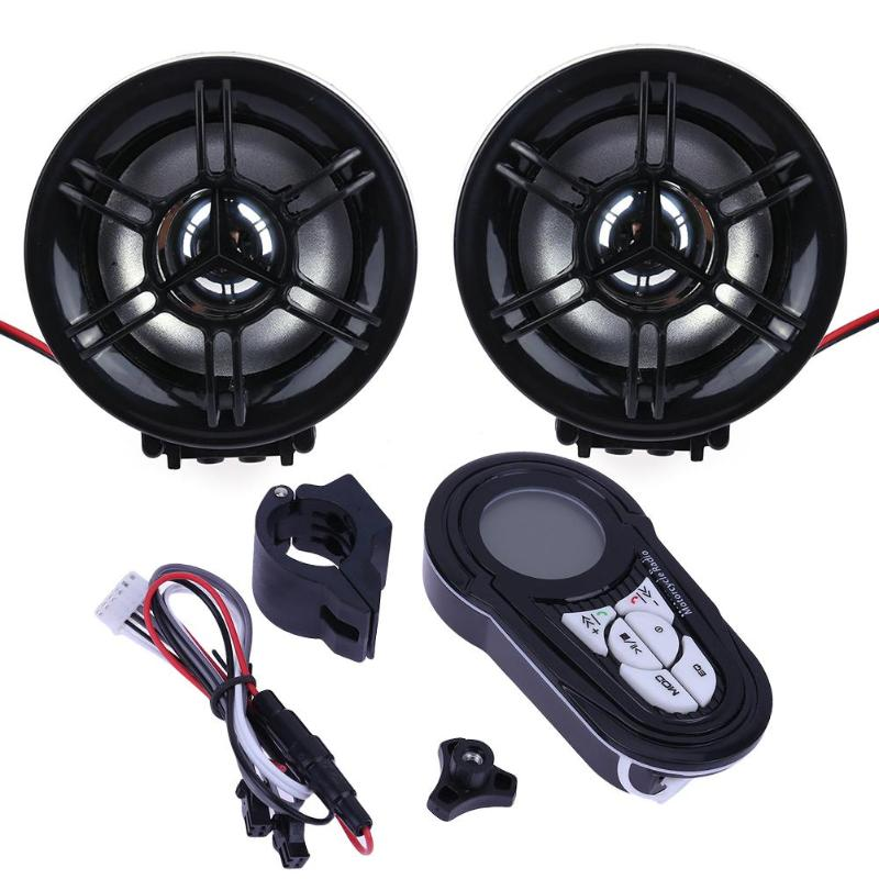 Universal Motorcycle Bluetooth Radio Stereo Speaker Amplifier Hands-free Audio System High Quality Theft Protection Alarm
