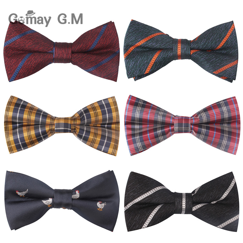 Fashion Bow Tie For Men Casual Neckties Striped Plaid Bowtie Corbata Wedding Bowties Business Suits Cravat