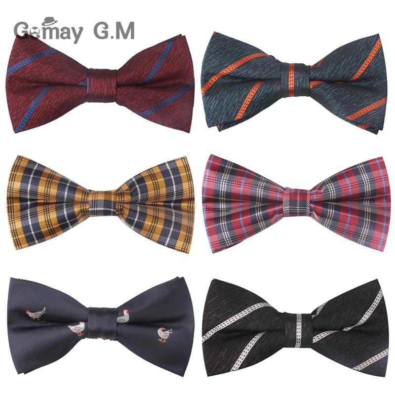 Fashion Bow Tie For Men Casual Neckties Striped Plaid Bowtie Corbata Wedding Bowties Business Suits Cravat