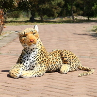 100cm Large Giant Simulation Animal Toy Plush Baby Ty Soft Leopard Toys Animals African Leopard Giocattoli Gifts 50T0279