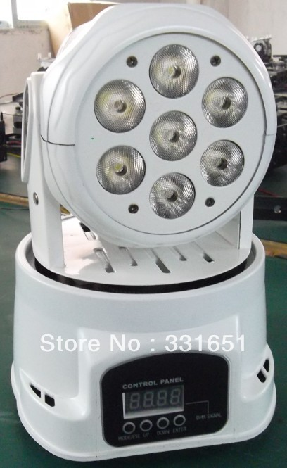 10pcs/lot led 7x12w rgbw quad moving light with white cover/ white case dj led moving head rgbw moving head