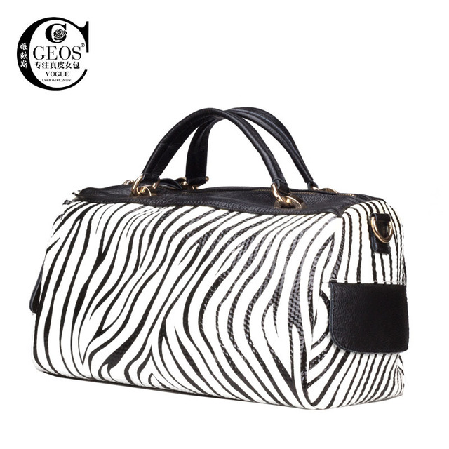 Zebra Woman Leather Tote Bag Doctor Print Messenger Bags Women