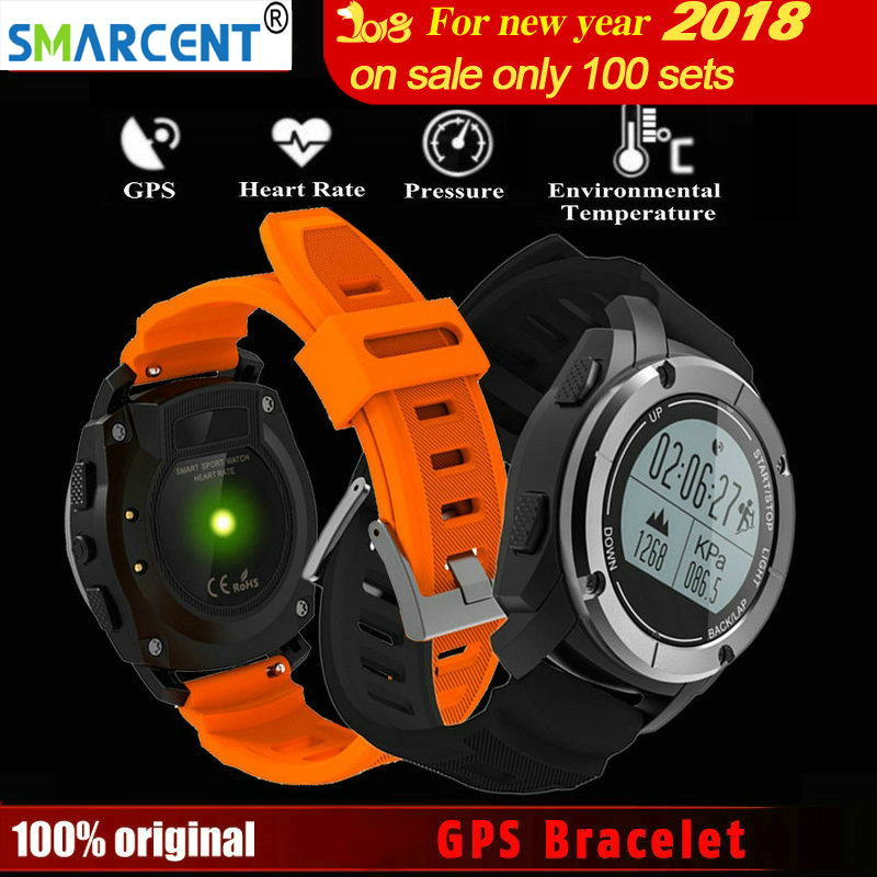 Smarcent S928 GPS Bande À Puce Bluetooth Bracelet Coeur Taux Hauteur Course Moniteur Vitesse En Plein Air Fitness Running Tracker Montre