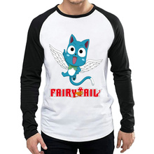 Anime Fairy Tail T Shirt White Color Mens Fashion Full Sleeve T-shirt Tops Tees tshirt Trendy For Teenages