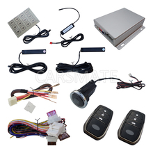 Car Passive Keyless Entry PKE Car Alarm System Long Push Button Remote Start Stop Engine Password  Entry Remote Trunk Release remote engine start stop passive keyless entry car alarm kit 433 92mhz push button start stop and touch password entry