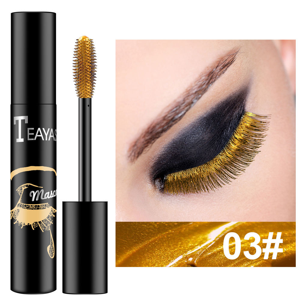 1PC Color Mascara Waterproof Waterproof Long Lasting Shimmer Eyelashes Easy To Remove Mascara Professional Eye Makeup TSLM2
