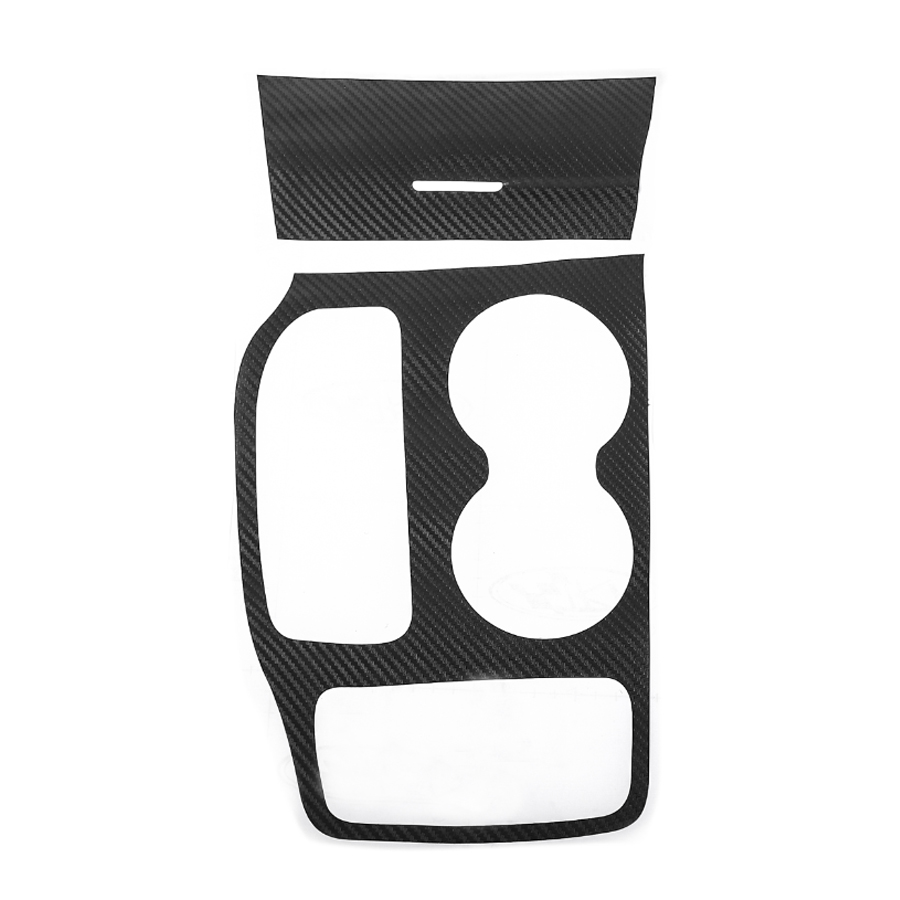 Carbon Fiber Black Car Gear Shift Box Water Cup Holder Cover Stickers Accessories For Jeep Grand Cherokee