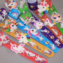 6 шт./партия, браслеты с единорогом из мультфильма, браслет, детская вечеринка, партия поддерживает поставки, игрушки для мальчиков и девочек на день рождения, украшения