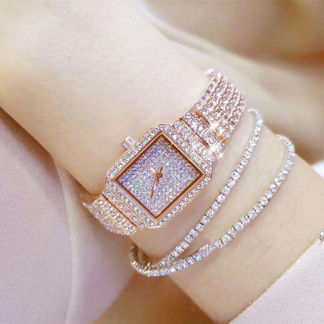 Hot New Women Watch Rhinestone Watches Lady Diamond Stone Dress Watch Stainless