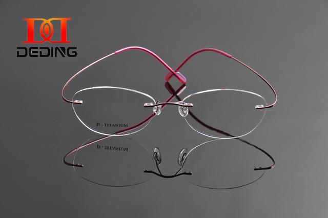 2015 gafas sin montura de titanio gafas de miopía marco para la mujer de titanio ultraligero sin montura gafas Oculos Anteojos DD0964