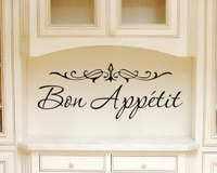 Kitchen Words Wall Decal Vinyl Quotes Bon Appetit Special Modern Design Wall Stickers Home Art Mural