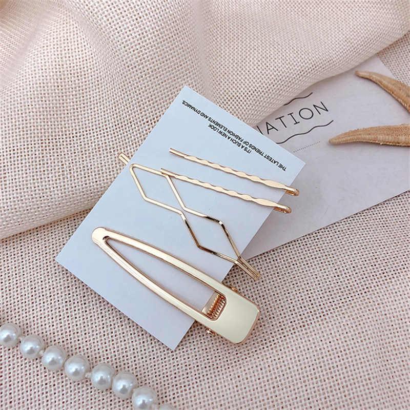 3pcs / set Metal Hair Clips Women pearl Hairpin Girls Hairpins Pin Bobby Pin Hairpin Hair Accessories Drop ship New Arrival