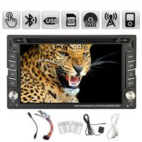 In Deck Stereo MP5 MP3 GPS Map Car DVD Radio 6.2 Inch Autoradio Auto SD Logo iPod PC CD USB Receiver Audio HeadUnit